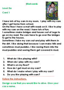 Level 4a work cards help develop literacy skills through the text, open ended questions and technology based activities on each card.